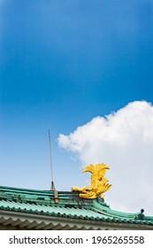 golden dolphin on top of castle, Nagoya castle