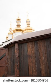 Golden domes and crosses Orthodox Cathedra