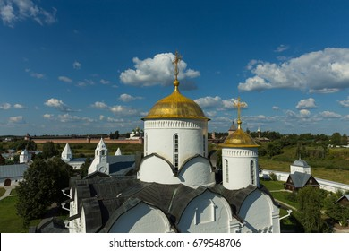 The Golden domes of the Pokrovsky Cathedral in Suzdal