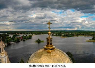 Golden domes of St. Nil Monastery
