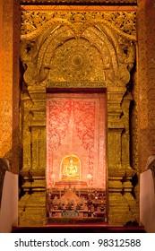 Golden doorway in buddha temple