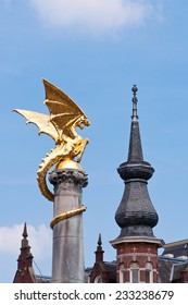 Golden Dragon Statue in Den Bosch, The Netherlands