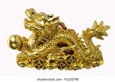 golden dragons in chinese style