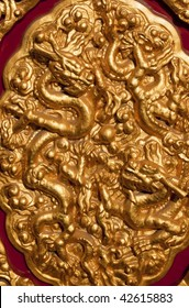 Golden Dragons Decoration Gugong, Forbidden City 'Emperor's Palace Built in the 1400s in the Ming Dynasty