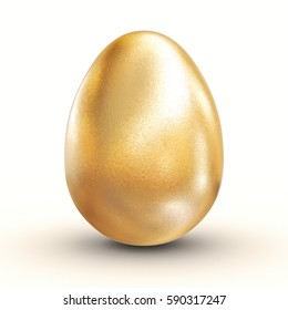 golden easter egg 3d rendering image