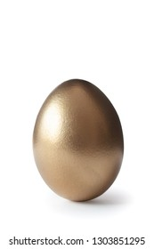 golden egg on isolated on white background with clipping path