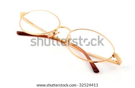 b9799b96997 Golden Eye Glasses Diamonds Isolated On Stock Photo (Edit Now ...