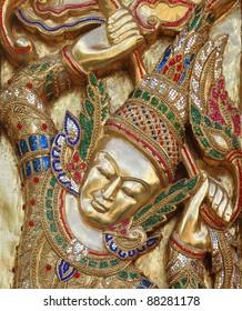 golden face on art temple door & Buddhist Door Images Stock Photos \u0026 Vectors   Shutterstock