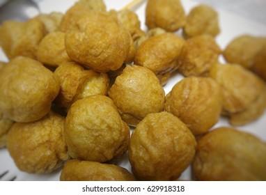 Golden fish ball.