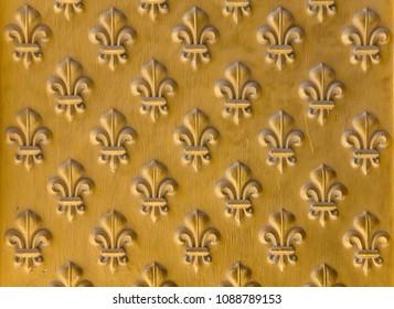 Golden fleur background
