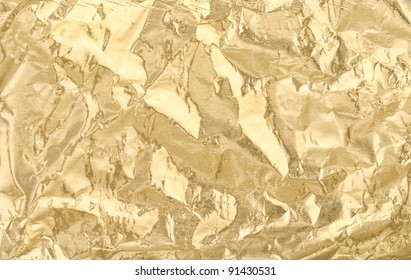 Golden foil texture for background