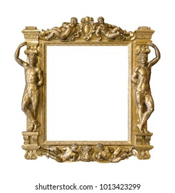 Golden frame (made in the late 19th century) for paintings, mirrors or photos