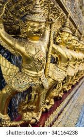 golden Garuda of Wat Phra Kaew at Bangkok, Thailand