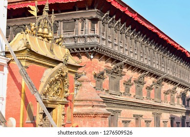 The Golden Gate and 55 Window Palace in Bhaktapur Durbur Square, Nepal