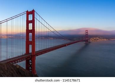 Golden Gate Bridge from Battery Spencer in San Francisco, California, USA