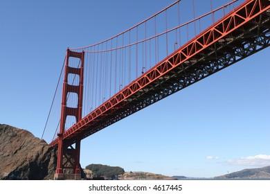 golden gate bridge from bay