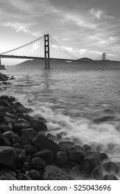 Golden Gate Bridge in the best beautiful moment from San Francisco