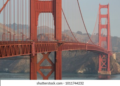 Golden Gate Bridge, clear weather in the morning light