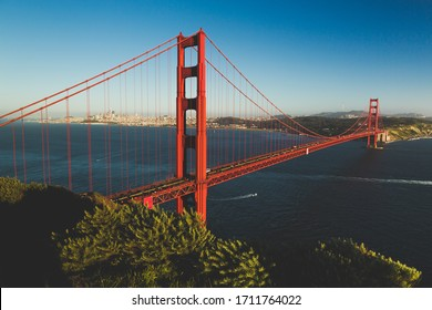 Golden Gate Bridge - connecting San Francisco with Marin County - Shutterstock ID 1711764022