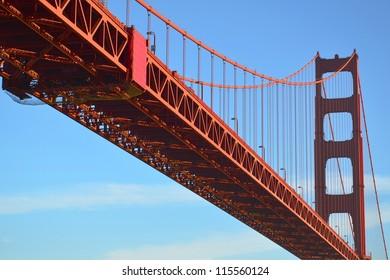 Golden Gate bridge detail in San Francisco, California USA