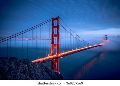 Golden Gate Bridge during Night, San Francisco