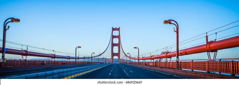 golden gate bridge early morning in san francisco california