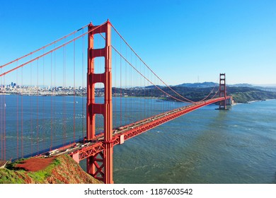 Golden Gate Bridge - The famous attraction of San Francisco.