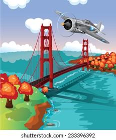Golden Gate Bridge Flypast.