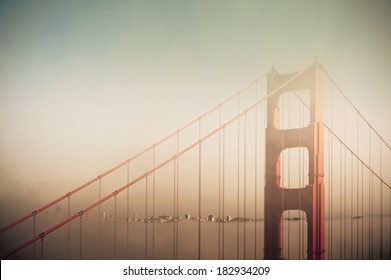 Golden Gate Bridge and the foggy weather