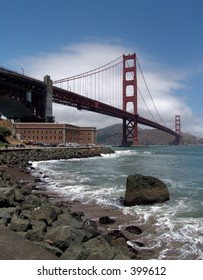 Golden Gate Bridge and Fort Point, San Francisco, CA