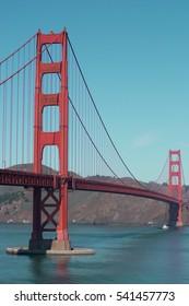 Golden Gate Bridge Landmark in San Francisco, California, USA
