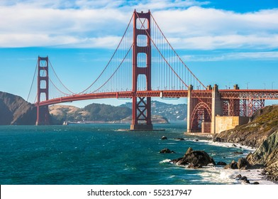Golden Gate Bridge landmark of San Francisco, California, USA