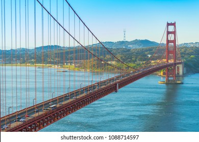 Golden Gate Bridge at morning light, San Francisco,USA
