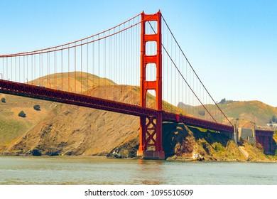 Golden Gate Bridge near San Francisco, USA.