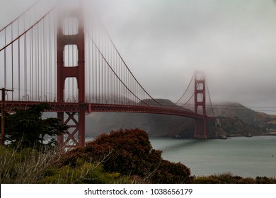 The Golden Gate Bridge on a cloudy summer day in San Francisco