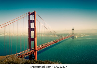 Golden Gate Bridge in San Francisco California USA