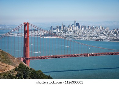 Golden Gate Bridge with San Francisco and the Bay in the background