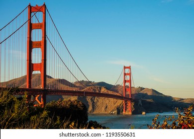 The Golden gate bridge from the San Francisco side.