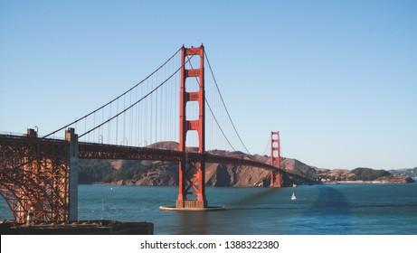 Golden Gate Bridge at San Francisco, USA