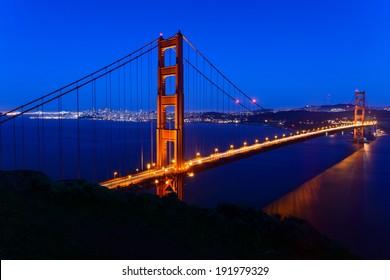 Golden Gate Bridge and San Francisco city