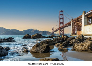 The Golden Gate Bridge in San Francisco is the most famous attraction, visited by tourists from all over the world.