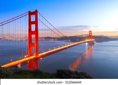 Golden Gate Bridge, San Francisco, California USA.
