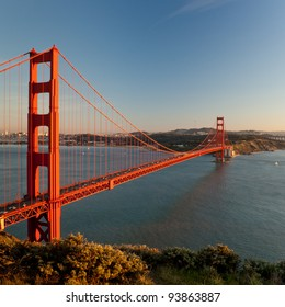 Golden Gate Bridge, San Francisco. Sunset.