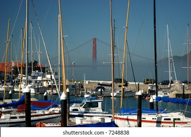 Golden Gate Bridge seen from the Marina