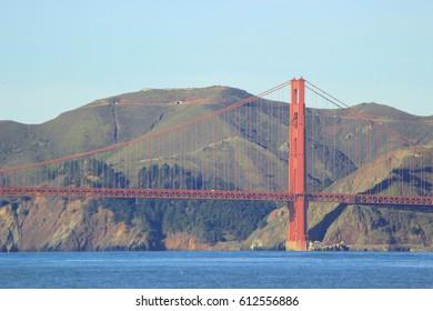 Golden Gate Bridge side-view
