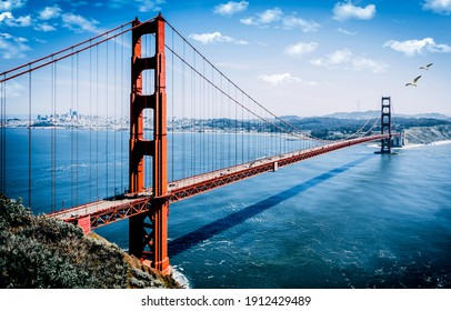 The Golden Gate Bridge is a suspension bridge located in the western United States in the state of California. The bridge connects San Francisco with Sausalito