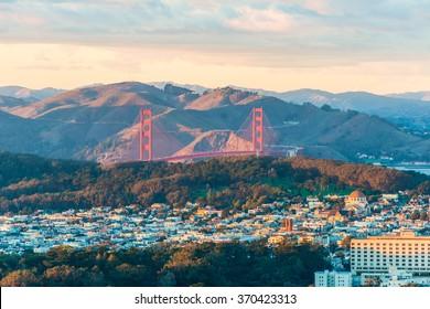 Golden Gate Bridge from Twin Peak