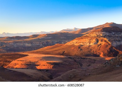 Golden Gate Highlands National Park panorama, South Africa. African landscape