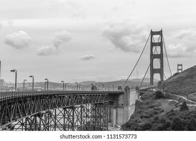 Golden Gate iBridge in Black and White