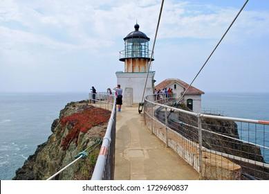 Golden Gate National Recreation Area - 2017: Point Bonita Lighthouse, near San Francisco was built in 1855 on the West Coast to help shepherd ships through the treacherous Golden Gate straits.